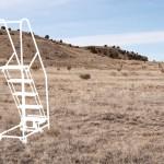 Ladders in the Desert - Photo - ladder on left