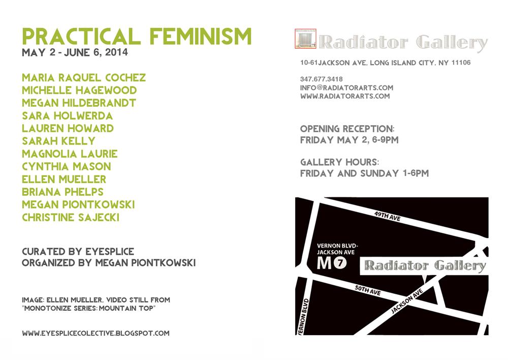 Practical Feminism Postcard Back