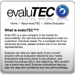 Evalutec website 2