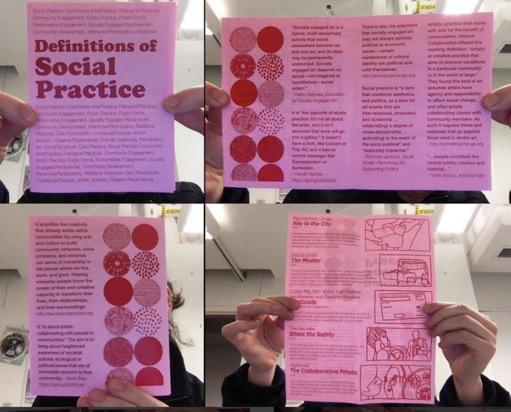 Definitions of Social Practice Zine