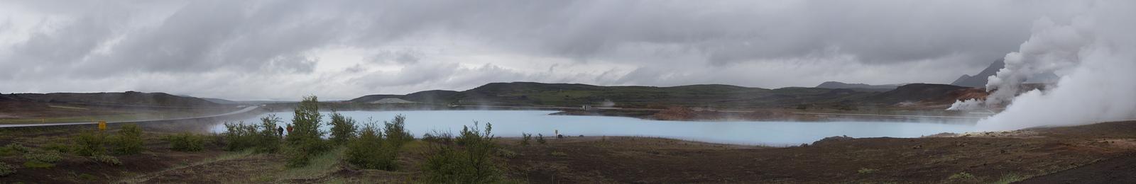 Myvatn lagoon near powerplant