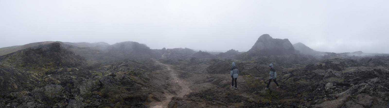Leirhnjukur: walking through the steaming lava field