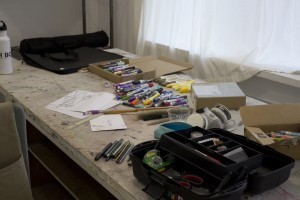 vcca studio drawing table