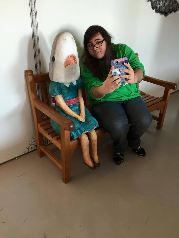 Brandon with Shark Girl