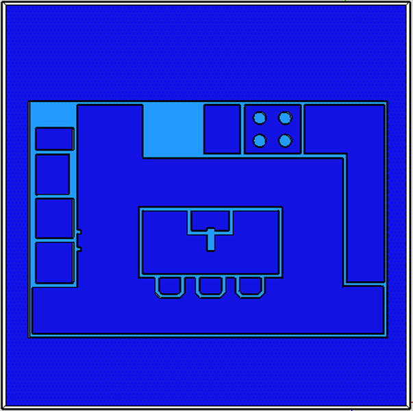 Screen capture of SketchUp drawing to show depth