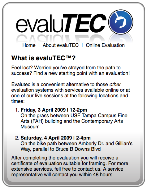 Evalutec website 1