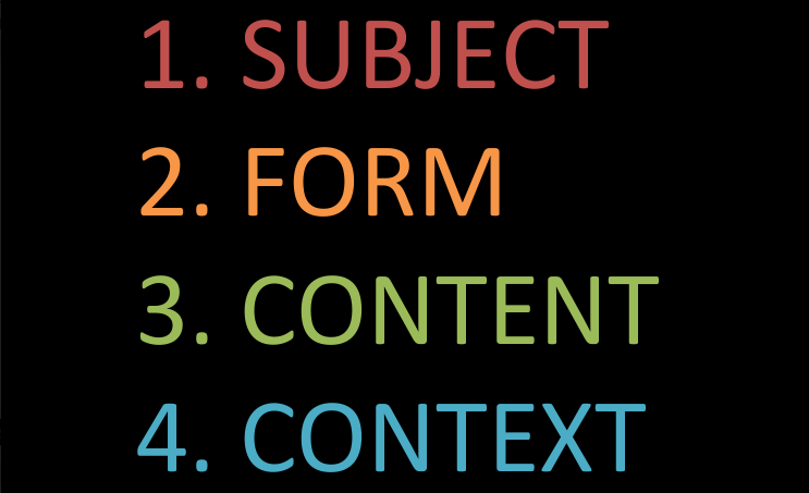 Subject Form Content Context