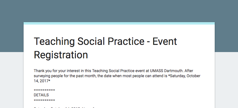 Teaching Social Practice Conference