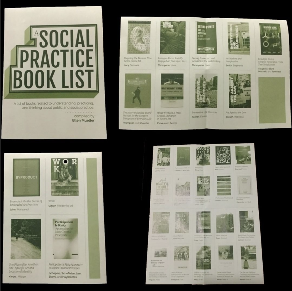 Social Practice Book List Zine