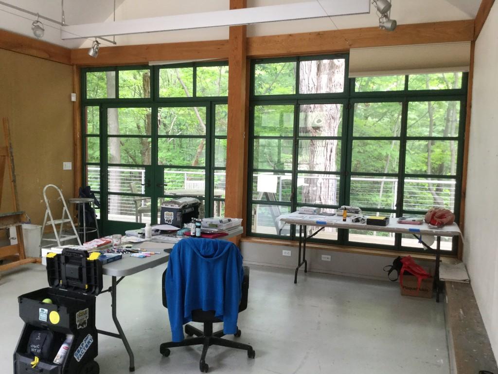 Weir Farm Art Center - Studio windows