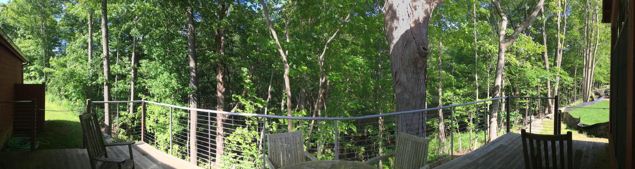 Weir Farm Art Center - studio porch view