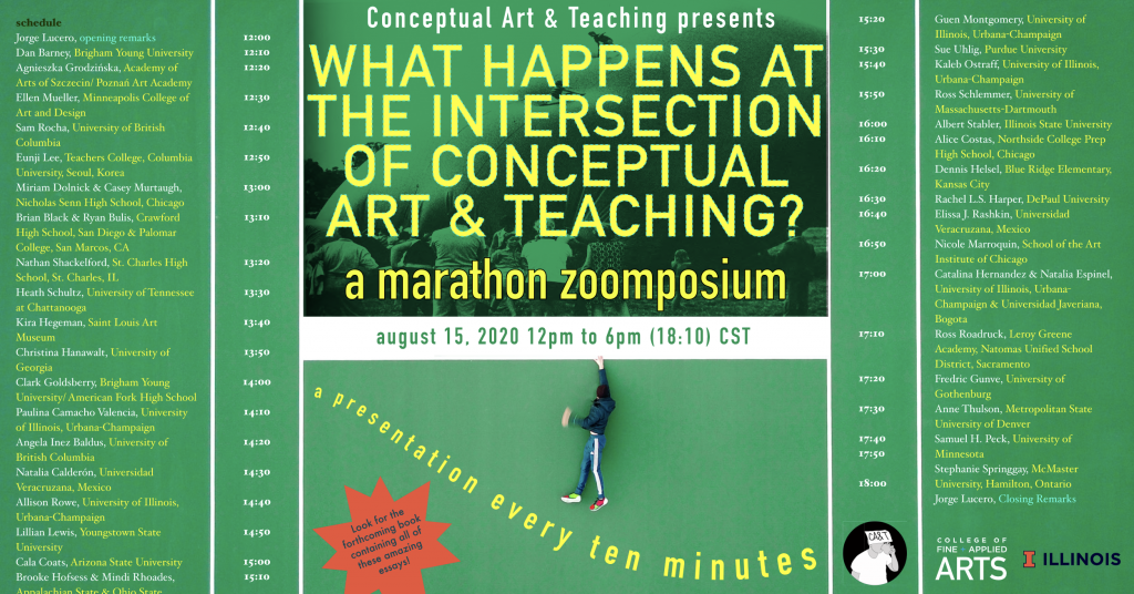 Conceptual Art and Teaching Poster