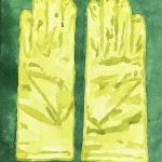 light green gloves