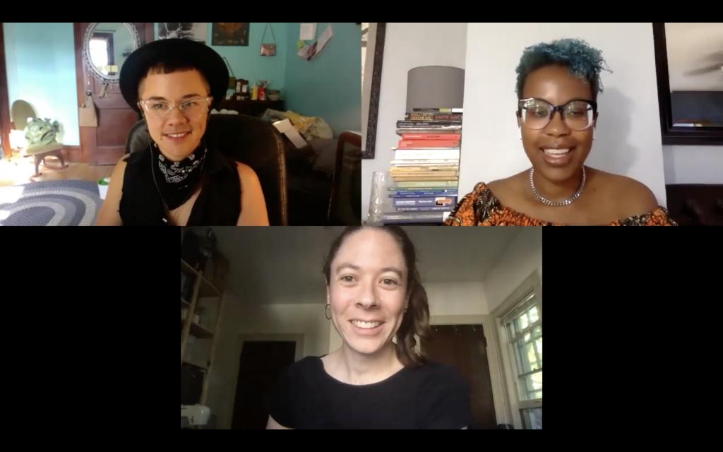 Ellen Mueller, Valerie Deus, and Merit Thursday interview screenshot