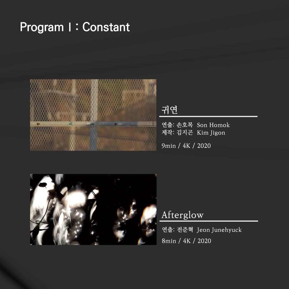 Program I: Constant