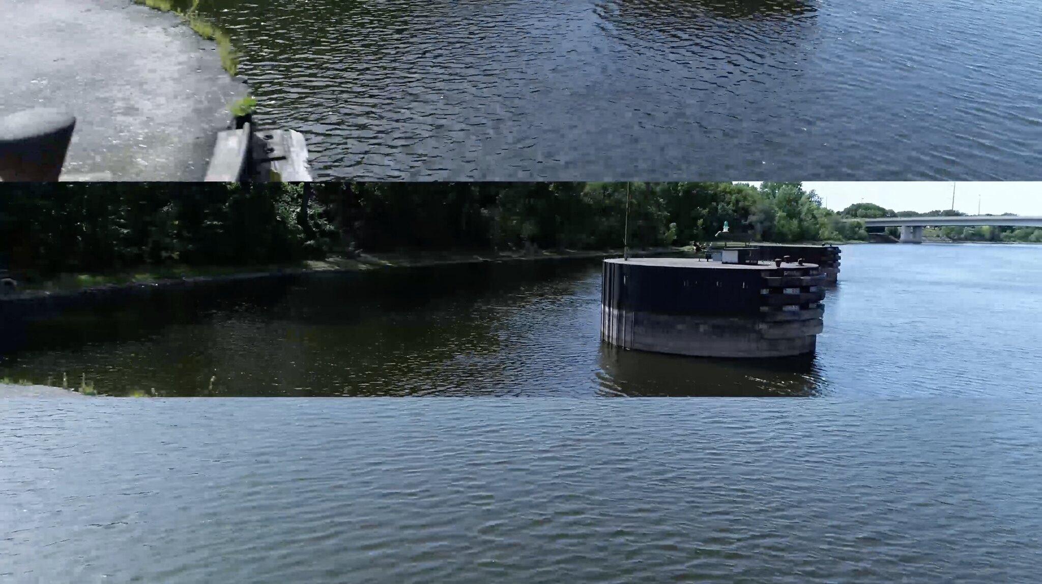horizontal shots of the river