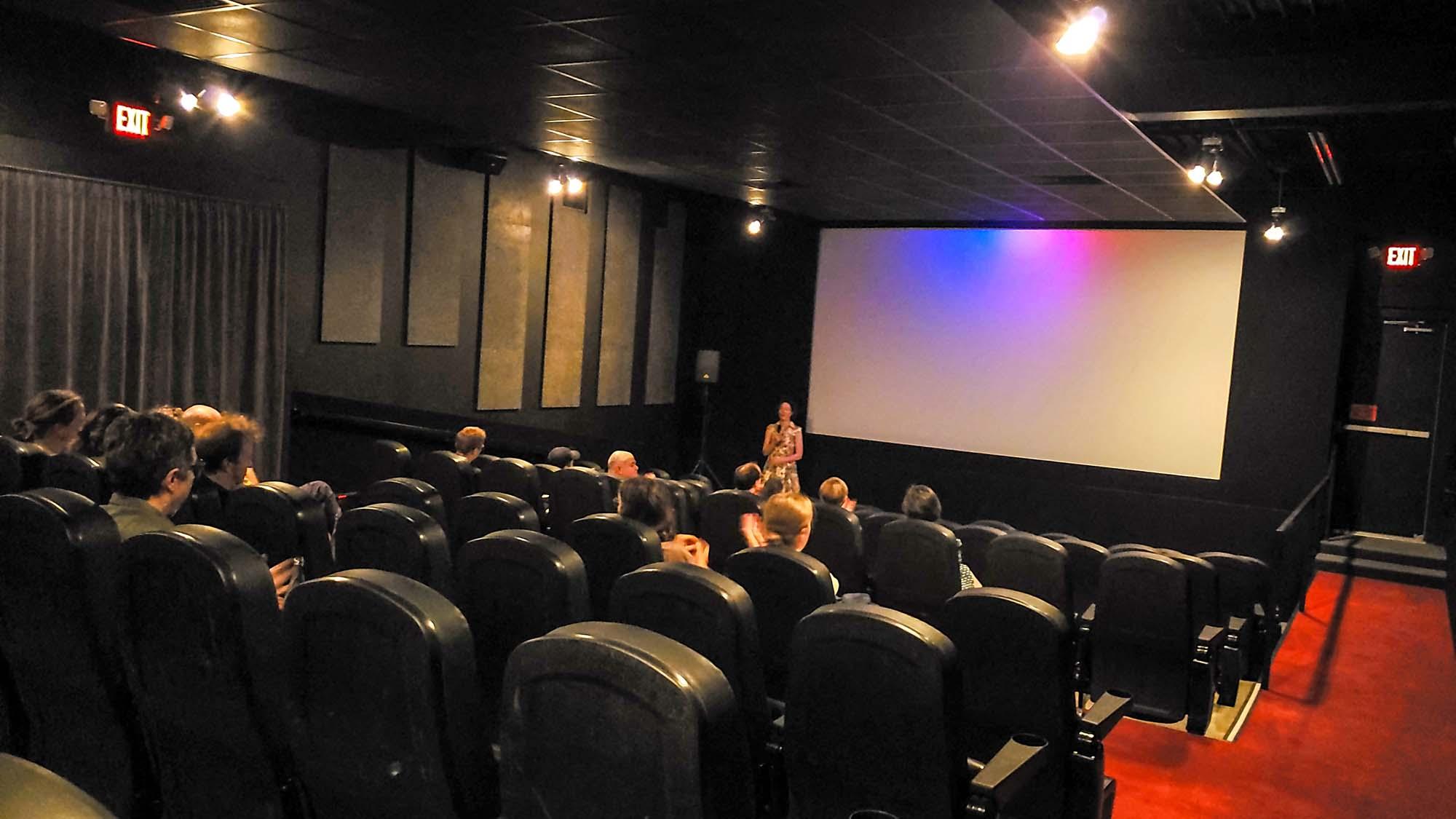 movie theatre interior with people