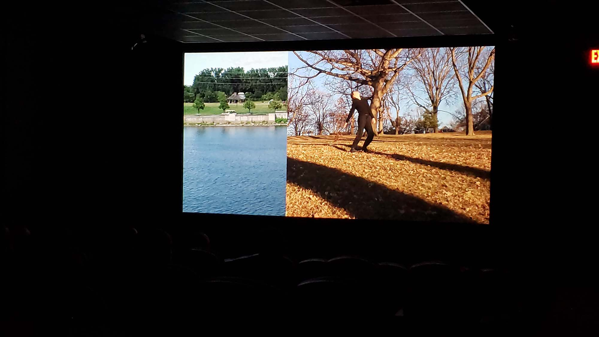 video projecting in movie theatre
